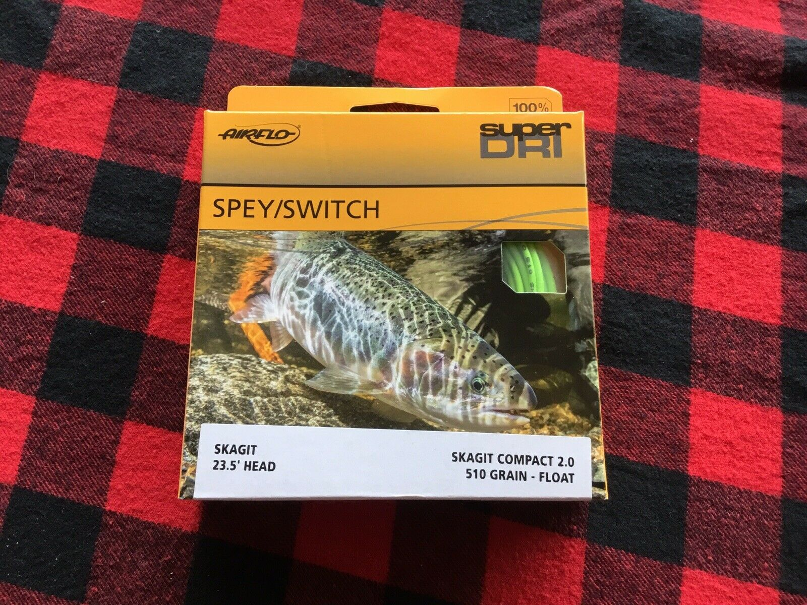 450 Grain green// Orange Rio Skagit iFlight Shooting Head Spey Fly Line