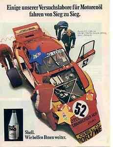 Manfred Schurti-GELO-Porsche,Shell Werbeanzeige ,ideal für den Bilderrahmen,
