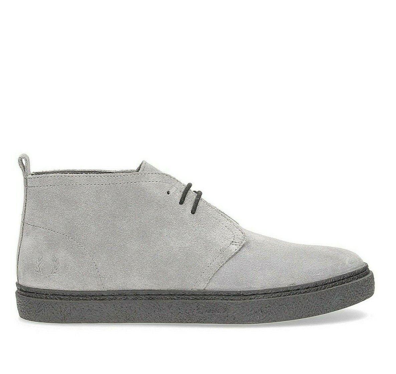 Frojo Perry Hombre Cuero Gamuza Hawley MID Zapatillas Zapatos B2132-C53 - gris Falcon