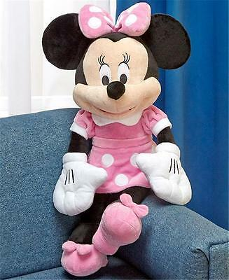 LARGE SOFT CUDDLY DISNEY MINNIE MOUSE CHARACTER PLUSH STUFFED TOY DOLL