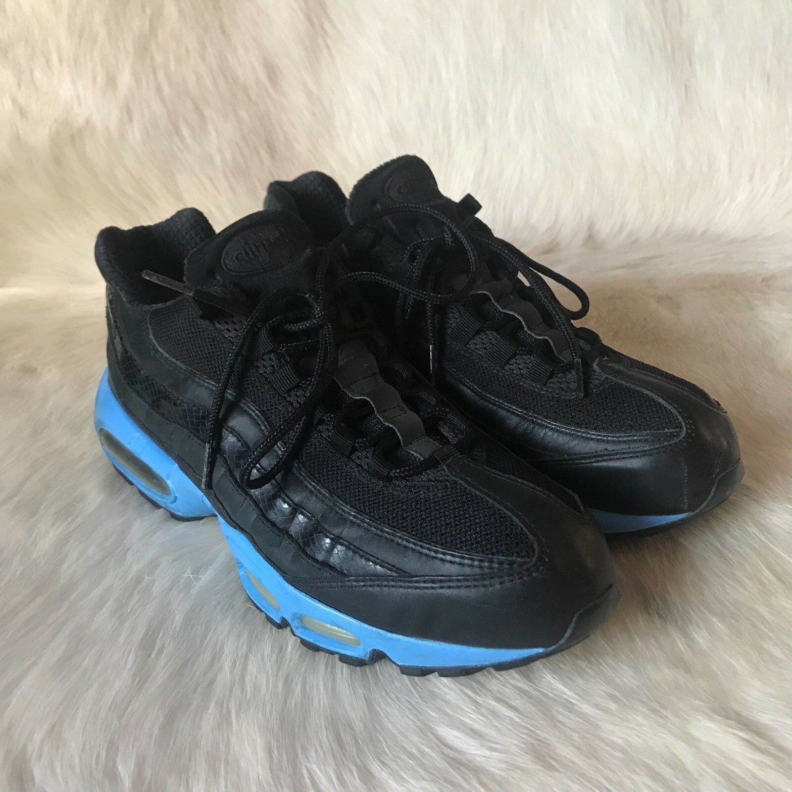 2006 Nike Air Max 95 BLACK UNIVERSITY BLUE UNC 1 609048-006 12