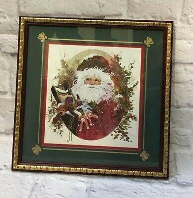 VTG CHRISTMAS HOMCO HOME INTERIORS MERRY CHRISTMAS WALL PLAQUE FAUX BROWN WOOD