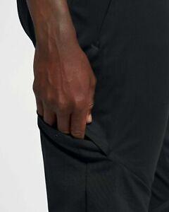 Nike-Drifit-Premium-Uomo-da-Corsa-Palestra-Pantaloni-Pantaloni-Nero-L