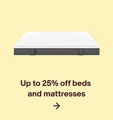 Up to 25% off beds and mattresses