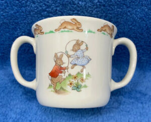 2 Piece BUNNYKINS Royal Doulton Double Handled Mug Oatmeal Cereal Bowl Children/'s Dishes Vintage