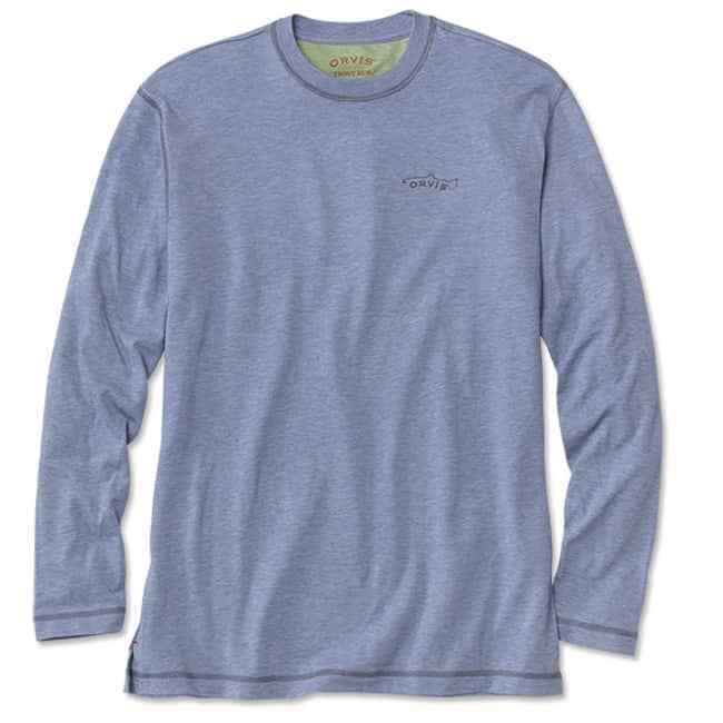 Orvis Men's  drirelease L S Casting T-Shirt - Bleached bluee Med NEW FREE SHIPPING  best price