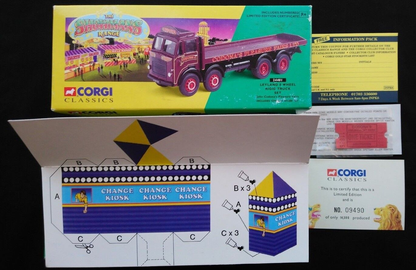 CODONA'S PLEASURE FAIRS LTD CORGI 24401 1 50 SCALE 1995 NEW BOXED LTD ED + EXTRA