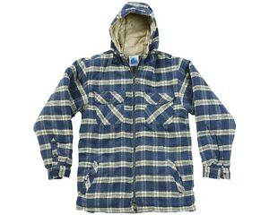 Sherpa-Camisa-Forro-Polar-Cuadros-Hombre-Con-Capucha-Calido-De-Trabajo-casual