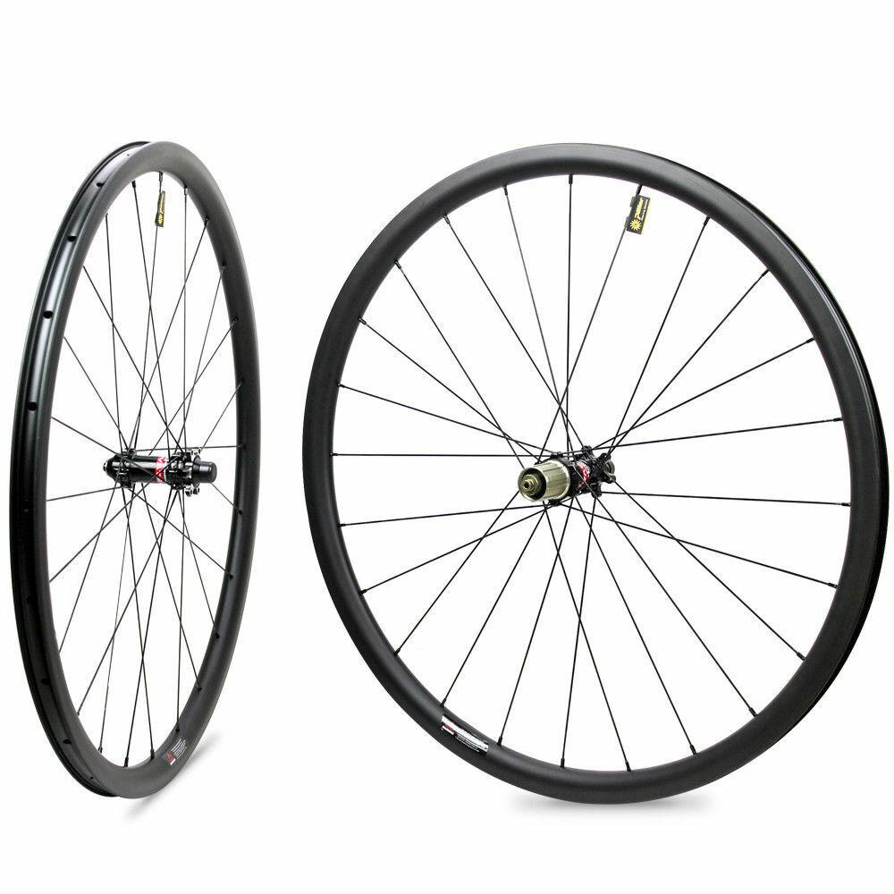 29er carbon mountain bike wheelset for XC  gravel riding 27mm rim width wheel  are doing discount activities