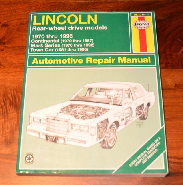 Haynes Car Auto Repair Manual 59010 2117 Lincoln Rear Manual Guide