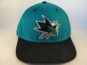 San-Jose-Sharks-NHL-Reebok-Snapback-Hat-Cap-Teal-Black