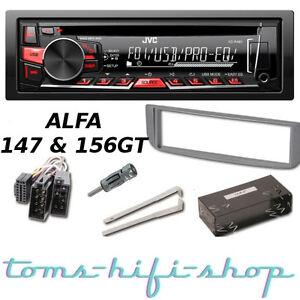 jvc cd usb mp3 autoradio alfa romeo 147 156 gt radio. Black Bedroom Furniture Sets. Home Design Ideas