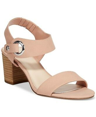 24cac046782 Bar III Women s Birdie City Two-Piece Block-Heel Sandals Size 9.5 Blush