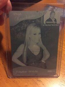 2009 TriStar TNA WWE Impact TAYLOR WILDE Printing Press Plate 1/1 Cyan