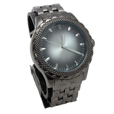 Timecenter Men's Casual Dress Watch with Textured Bezel