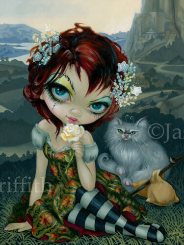 The Fool Jasmine Becket-Griffith art BIG print cat SIGNED Amanda Palmer Tarot