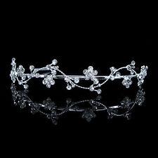 Wellig Blume Hochzeit Braut Haarschmuck Haarreif Krone Diademe Tiara