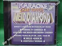 Neil Diamond Karaoke Chart Toppers CD G Lyrics on Screen 9 Tracks English Pop