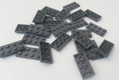 Blue BR015 used condition 24x Lego Dark Grey Lego 2 x 4 Flat Plates