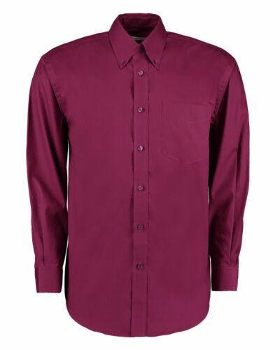 Kustom Kit Uomo Manica Lunga Camicia Oxford Aziendale