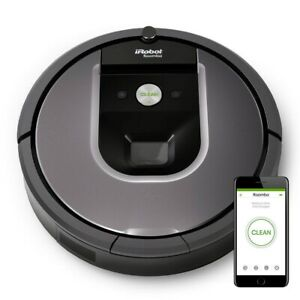iRobot Roomba 960 App-Controlled Self-Charging Robot Vacuum - Gray