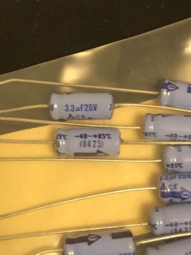 3.3uf 25 Volt axial lytic