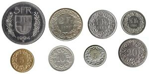 Swiss Franc Coin Collection 5 Francs To