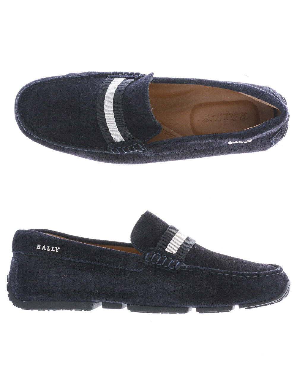 Mocassino Bally Moccasin chaussures PEARCE Pelle MADE IN ITALY hommes bleu 6206908 106