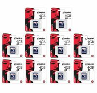 10 Kingston 4gb Sd Video Picture Memory Cards - M80/m100/d55ir Trail Game Camera on sale