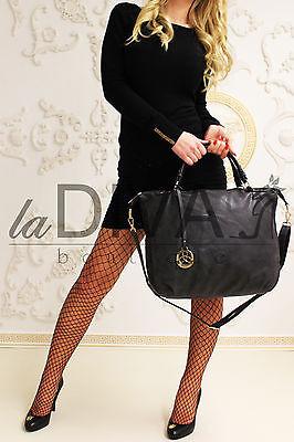 Henkel Tasche Deko Anhänger schwarz Vintage Used Leder Optik %SALE% OVP 49,90 €