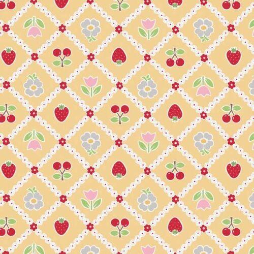Riley Blake venta de pastelería fruta Tela Floral C3432 Amarillo material Lori Holt