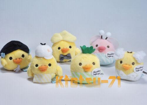 Rilakkuma KIIROITORI Tenori Plush Doll Mascot Full set 6 types San-X MY08901