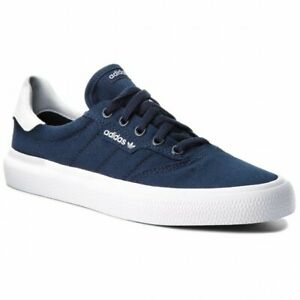 Adidas-Originaux-3MC-Vulc-Chaussures-Baskets-Hommes-Marine-Bleu-Blanc-Neuf