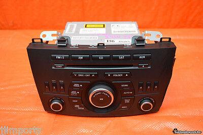 12 13 MAZDASPEED3 OEM RADIO CD PLAYER MP3 MS3 MAZDA3 BLACK BUTTON BGV466AR0