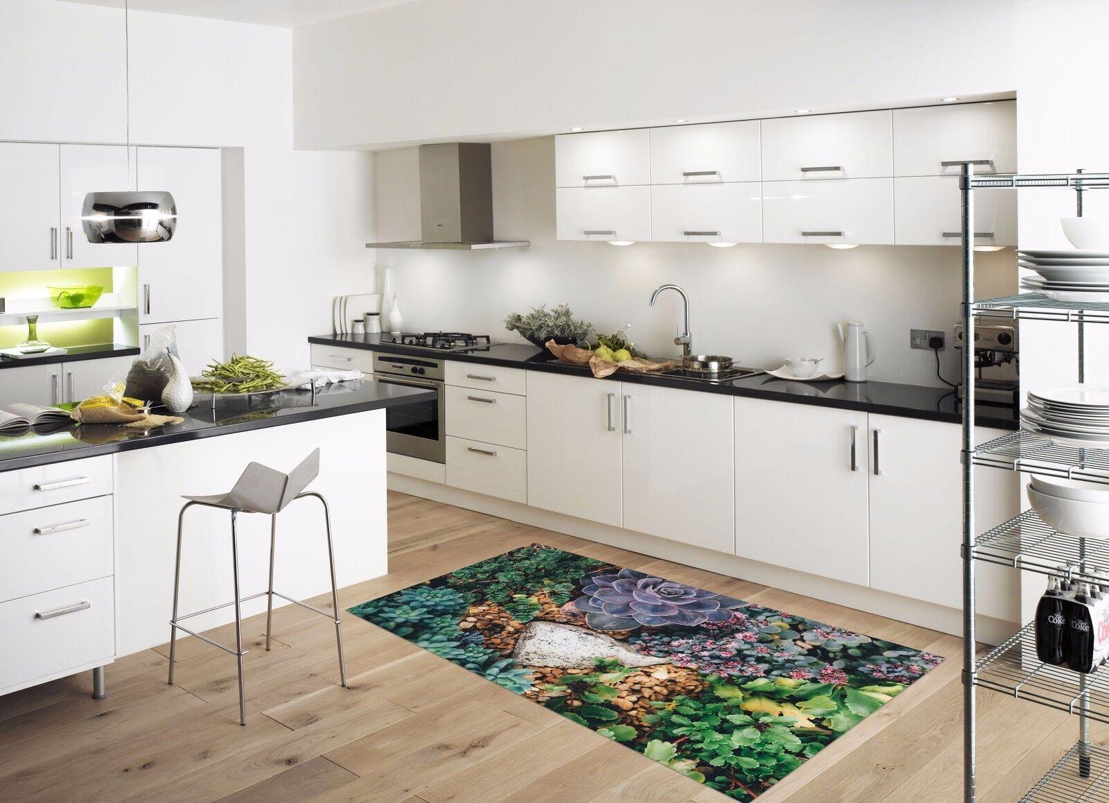 3D Leaves Stone 62 Kitchen Mat Floor Murals Wall Print Wall AJ WALLPAPER AU Kyra