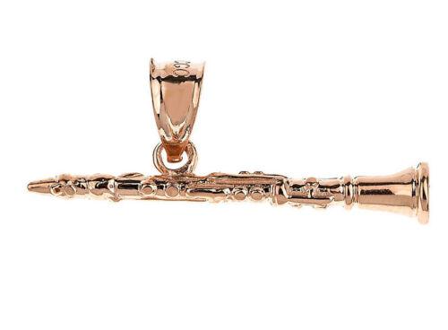 Rose Gold Clarinet 3D Pendant Musical Chorus Band Instruments