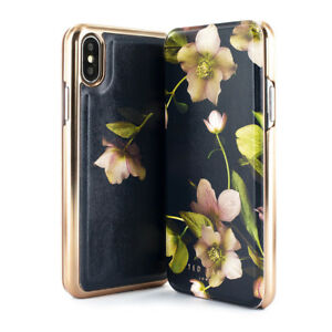 fc56fed02 Ted Baker® Highly Protective Floral Mirror Folio Case for iPhone X ...