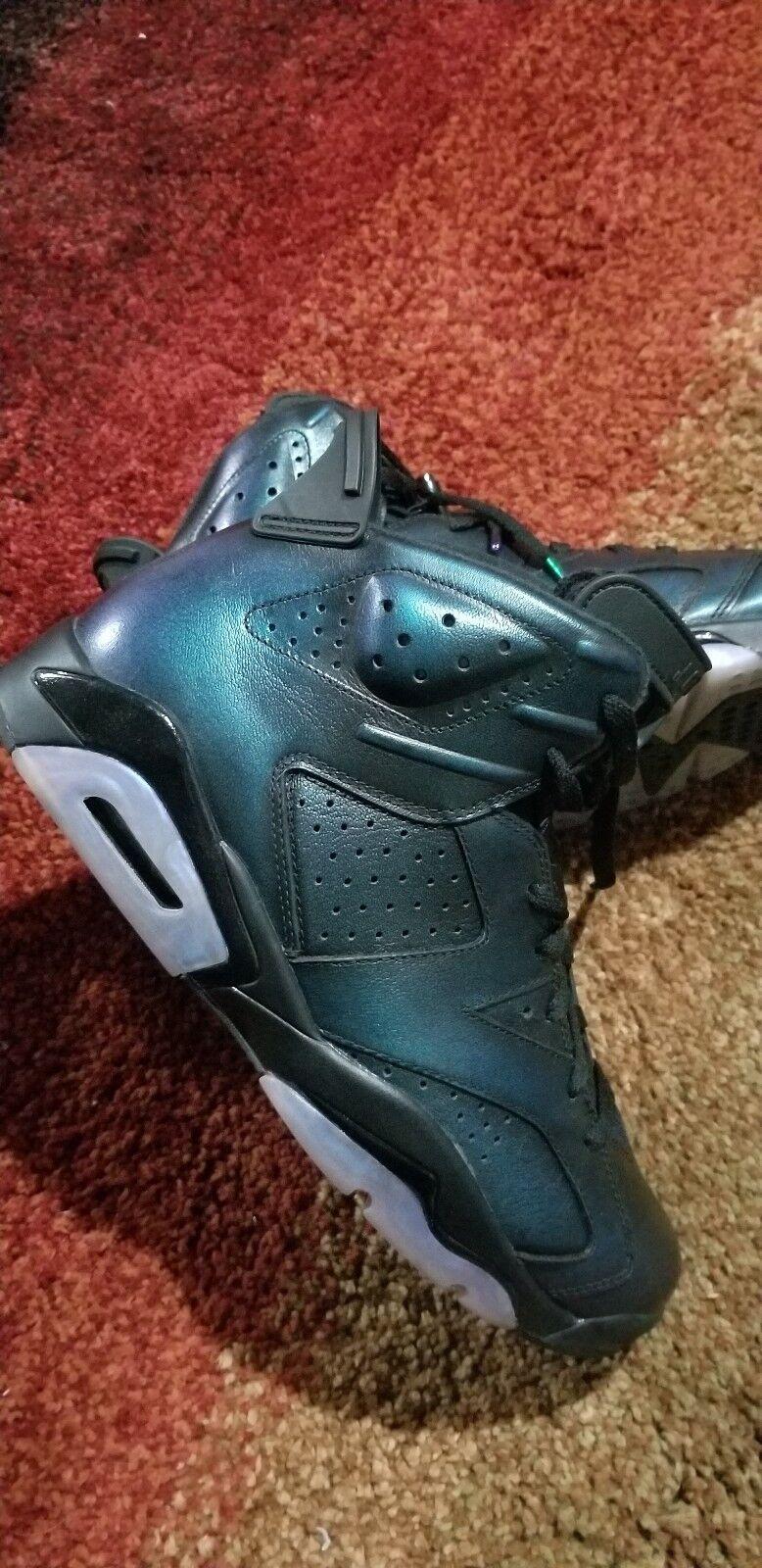 Nike Air Jordan 6 Retro  - black, chameleon Size 12
