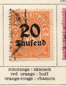 Complexé Allemagne 1923 Early Officiel Question Fine Utilisée 20 T. - 217079-afficher Le Titre D'origine