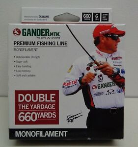 Bonus Pack Monofilament 8 LBS Gander Mountain Premium FISHING LINE 660 Yards