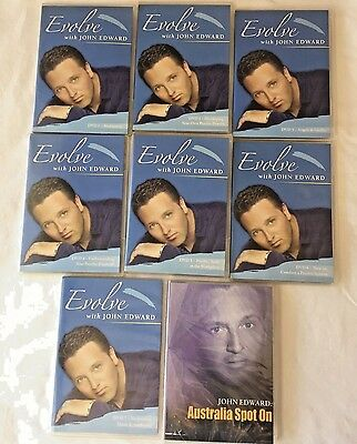 DVD Lot 8 John Edward Evolve Series 1-7 + Australia Spot On Psychic Meditation
