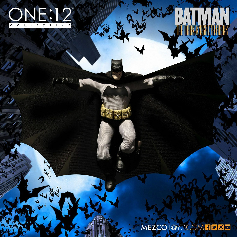 Mezco one-12 colectiva Batman Dark Knight Returns En Negro Figura De Acción