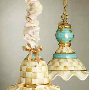 mackenzie childs parchment check cord cover for table hanging lamps floor cords ebay. Black Bedroom Furniture Sets. Home Design Ideas