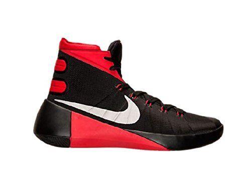 Nike Uomo hyperdunk 2015 basket scarpa nero / rosso / metallico dell'università