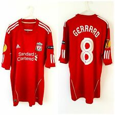 Liverpool Gerrard Home Shirt 2010. Large. Adidas. Red Adults L Football Top Only