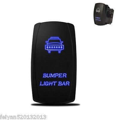 Car SUV Laser Rocker Switch Car Front Bumper Light Bar Blue Light 5 Pins On-Off