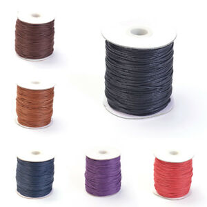 100yds//Roll Waxed Cotton Threads Round Beading Cords Strings Spool Tiny 1mm DIA