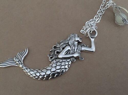 Sterling Silver Mermaid and Sea Dragon Pendant