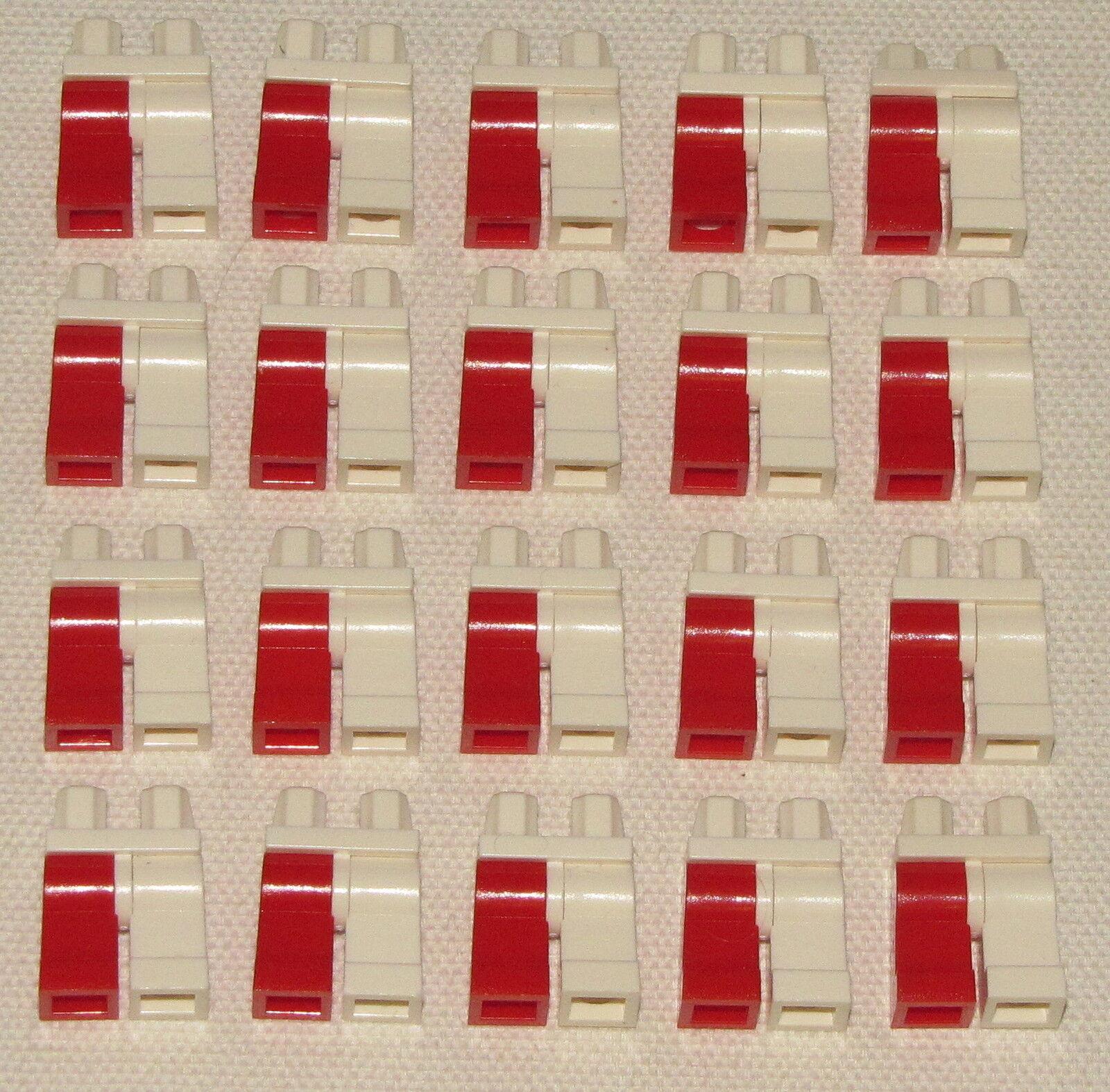 Lego Lot Of Piernas 20 Nuevo Multi de Farbees Piernas Of Blanco y Rojo Minifigura 5bb8ca