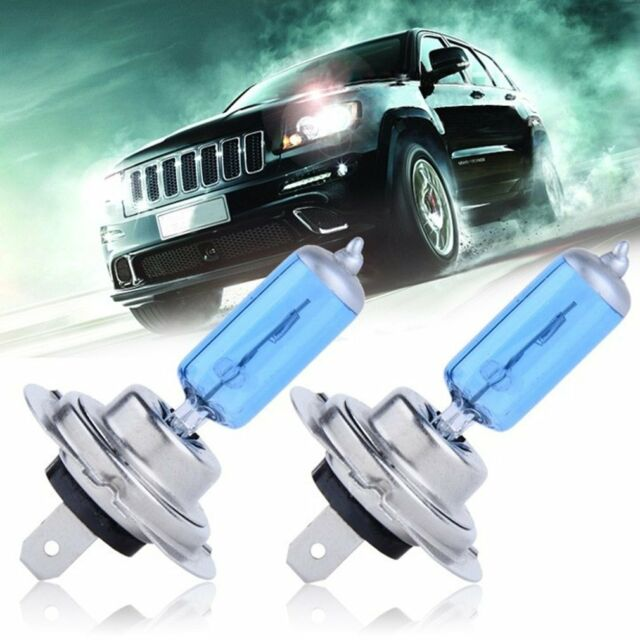 2x H7 XENON HALOGEN BULB 5000K Car Super Xenon White Light Bulbs 12V 55W Hot AP